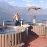 Deck/Hot + cold tub