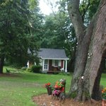 Cute landscaping and our cottage