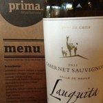 Menu and great wine!