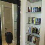 bookcase in master suite