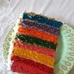 Fat friday rainbow cake delicious :)