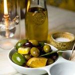 Bowl of Marinated Mixed Olives