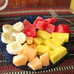 Fresh fruit with breakfast!