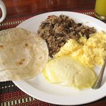 Yummy Costa Rican breakfast!