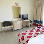 Room comes with air con, mini fridge and TV, plus free wifi