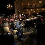 Shaftman Performance Hall stage, w/ Snarky Puppy