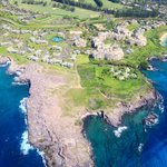 View of The Kapalua Villas from helicopter (tour not included in stay)