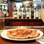 Our historic bar with a savory schiaccata - a flavorful Tuscan flatbread