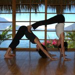 Partner Yoga in our Blue Tiger Temple