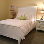 Queen bed in bedroom