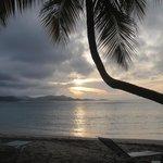 Atardecer en playa de Saint Croix