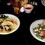 Beef taco, fish taco & beef burrito