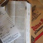The menu, bill et all