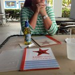 Kaibo menus and a local beer