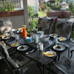 Breakfast is served - on the deck