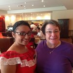 The wonderful young woman who made the pupusas every day I was there. Fantastic! Great breakfast