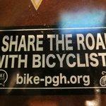 bike friendly decal