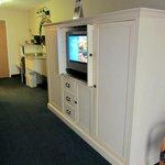 TV, Entertainment Center and Dresser