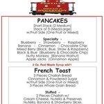 Pancake & French Toast Menu