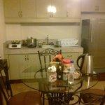 Kitchenette in the 2-bedroom suite