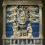 "Andrea della Robbia   Altar der Himmelfahrt Mariae ""Madonna della Cintola"""