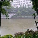 Vue de la terrasse sur la rivière