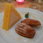 sorbet and icecream dessert