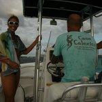 op de boot van de eigenaren snorkelen