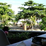 Lovely beach view from breakfast table - Breeze Restaurant
