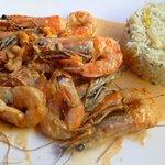 Shrimp in crayfish sauce (Gambas avec sauce de crevettes)