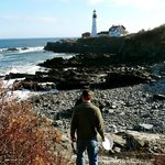 Fort Williams Park with Portland Head Light in background