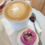 A smooth zentveld's coffee & one of our signature cupcakes