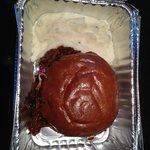 BBQ Pulled Pork Sandwich, with an apple cole slaw, on brioche bun