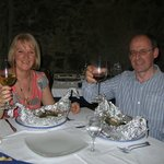 Fresh fish of the day and wonderful wine
