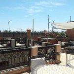 La grande terrasse du Riad