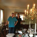My husband, with host, Greg, during breakfast