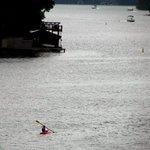 Chilling cruising on Lake Lure.