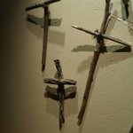 Wooden Crosses In the Hotel Room