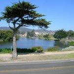 View across the street to Lake El Estero