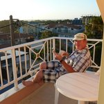 Hubby on Balcony