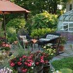 Beautiful gardens at our Vermont Village inn