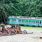 old logging equipment