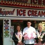 The icecream shop.