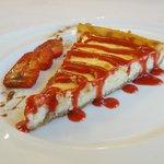 La cheesecake de Areceli. Postre estrella del Mesón Conrado