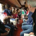 Boothbay Railway Village Narrow Gauge Train-All 26 of us aboard!