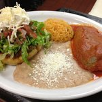 Chile rellenó and sope combination