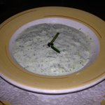 refreshing cold cucumber soup