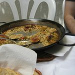 The paella pan- the rest was on my plate.