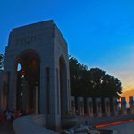 WW2 memorial at sunset (pacific end)