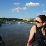 Eva on Charles bridge